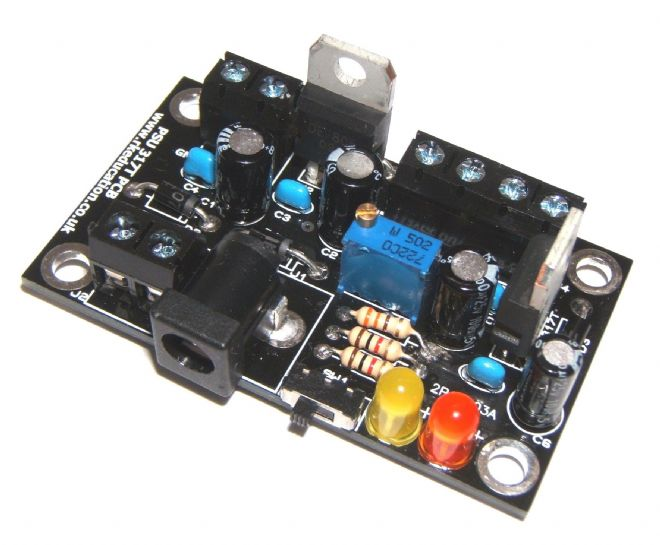 Triple Output PSU with LM317 and 7805 Self Build Kit